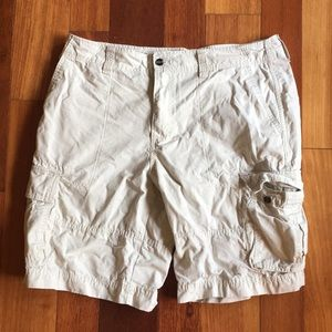 Mossimo Supply Co Mens White Cargo Shorts W 36